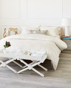 A beautiful, neutral, and feminine bed. Say hello to Gianna Eggshell, featuring a modern geometric pattern. Made from 100% long staple cotton that's been woven in Italy and sewn in Canada. Neutral Bedding, Linen Bedding, Geometric Bedding, Between The Sheets, People Sleeping, Hotel Bed, Luxury Bath, Fine Linens, Eggshell