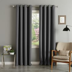 Shop for Aurora Home Thermal Insulated Blackout Grommet Top Curtain Panel Pair - 52 x Get free delivery On EVERYTHING* Overstock - Your Online Home Decor Outlet Store! Get in rewards with Club O! Kids Curtains, Cool Curtains, Colorful Curtains, Grommet Curtains, Panel Curtains, Curtain Panels, Elegant Curtains, Window Blinds, Window Panels
