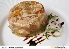 Sulc-huspenina z vepřové hlavy recept - TopRecepty.cz Fondant Cupcakes, Thing 1, Baked Potato, Pork, Beef, Cheese, Homemade, Chicken, Ethnic Recipes