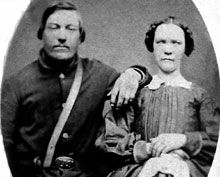 Private Hans Hansen of Company E and his wife Anna Private Hansen died December 12, 1863, at Chattanooga, Tennessee, of sickness Photo courtesy of Hans and Anna Hansen's Great Grandson Glen Hanson Image above has been electronically enhanced by Deep Vee Productions