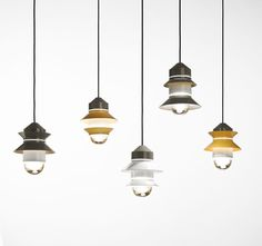 Marset Santorini collection, pendants, different shade configurations