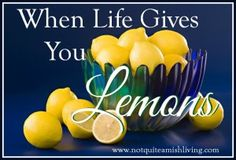 When Life Gives You Lemons Make lemonade right? Yet there are many other uses for the citrus fruit. And I'm not talking about putting it in our water or using it to cook. In these days of 'being green' and pitching in to do our part to nurture the earth, lemons offer a natural way to clean