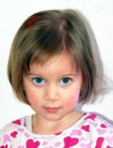 Sooo cute...  Aren't bob hair styles on little girls just sweet?  I just cut my granddaughter's hair this weekend like this but her hair is curly half way down...it turned out just adorable.