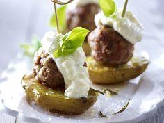 Landhaus-Party - zünftige Leckereien fürs Büffet - kartoffel-hack-spiesschen Rezept