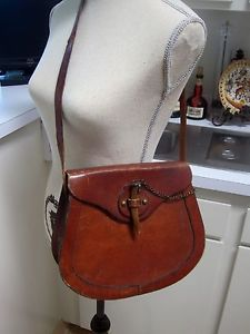 Vintage Etienne Aigner Handbag Canvas Leather Horn 1960s Hand Made And