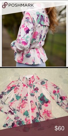 934798cee9 Lululemon blurred blossom jacket, size 8 VGUC, and such beautiful  colors--need