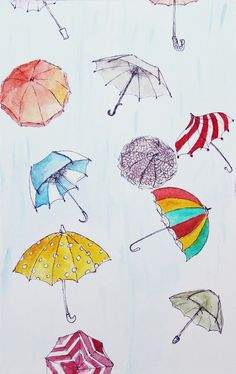 Day For An Umbrella Art Print. with the collage with air balloons maybe?