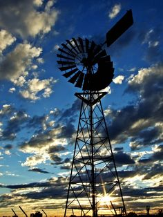 Mount Isa Wind Power, Sunset, Australia , Outback, Farm, Clouds, Nobody