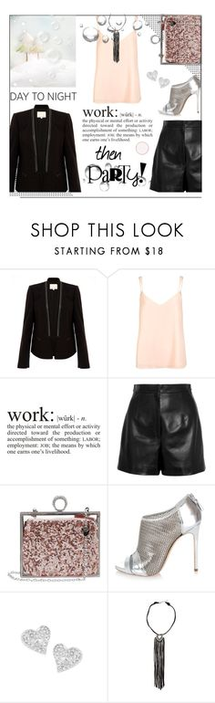 """""""Work then Party all night"""" by no-where-girl ❤ liked on Polyvore featuring Rebecca Taylor, River Island, Balenciaga, Betsey Johnson, Casadei, Vivienne Westwood, American Eagle Outfitters and HolidayParty"""