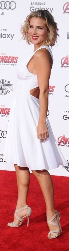 Elsa Pataky's flirty white cutout dress at The Avengers Age of Ultron premiere.