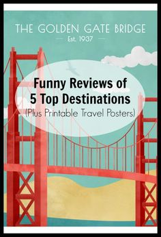Funny Reviews of 5 Top Destinations (+Printable Travel Posters!) - Postcards & Passports