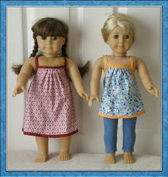 "The Bonnie Sundress & Top Pattern for 18"" Dolls by Genniewren Designs"