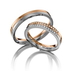 10K Two Tone Gold Diamond Wedding BandsHis & Hers by TallieJewelry