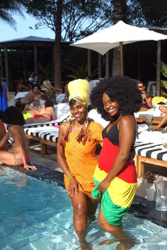 Kimberly and I at the pool with HBO