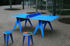 Modern ping pong table -- Will Shannon.