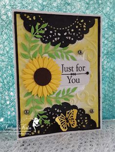 Cheerylynn Sunflower diecut card
