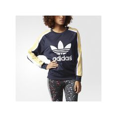 adidas Cosmic Confession Sweater ($75) ❤ liked on Polyvore featuring tops, sweaters, legend ink, adidas sweater, galaxy print top, galaxy sweater, adidas and galaxy print sweater