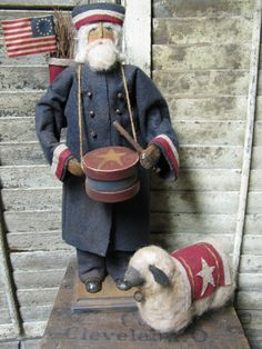 Olde Civil War Sam~ by Folk Artist Sue http://1897houseprimitives.blogspot.com/Corlett~1897 House.