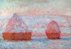 Les Meules, Giverny, effet du matin (C Monet - W 1214),1889.