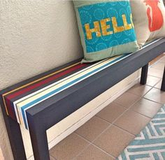 I really like this Hello pillow with the different colors.