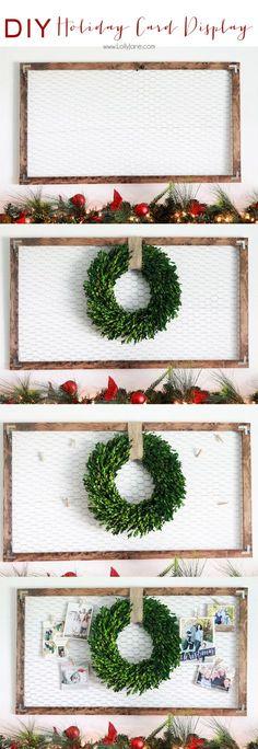 DIY Christmas & Holiday Card Display - LOVE this.