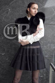 BLACK DYED RUSSIAN SABLE CAPELET