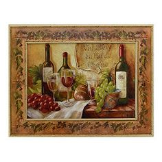 French Food & Wine Canvas Art Print | Kirkland's