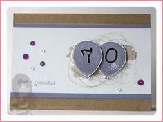 Stampin' Up! rosa Mädchen Geburtstagskarte mit Partyballons und Perpetual Birthday Calendar