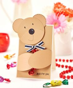 Make this adorable hugging bear card in just three simple steps (PaperCrafter issue 86)
