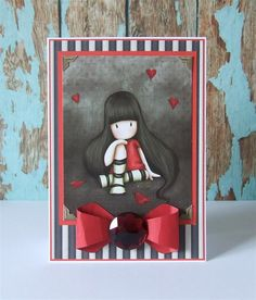 'Gorjuss Girl' Handmade Santoro card.
