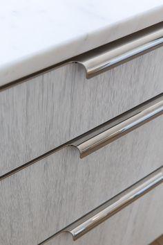 Custom Kitchen by Amuneal- Drawer Pull Detail