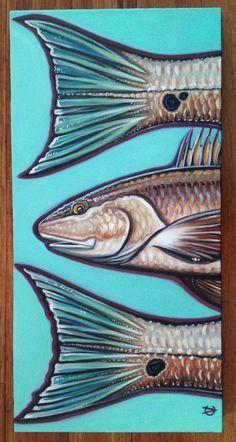 Redfish Art by Carin Vaughn on etsy