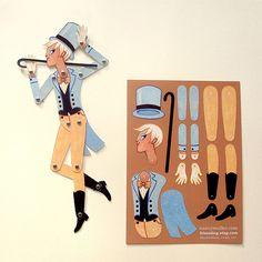 Circus Folk Paper Doll by kissabug