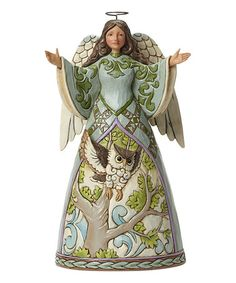 Love this Angel with Owl Figurine on #zulily! #zulilyfinds