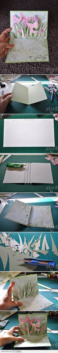 DIY 3D Butterfly Card DIY Projects | UsefulDIY.com na Stylowi.pl
