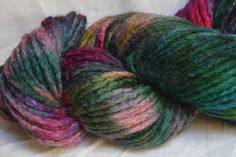 Pencil roving WATERLILIES 200g BFL by SpindlesAndStitches