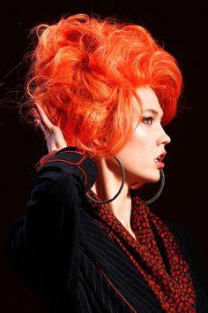 Bright orange hair #bright #hair #dyed