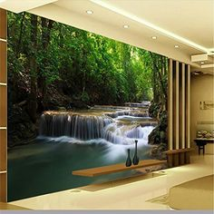 Großes Angebot Lqwx Wallpaper Mountain Stream Bäume Fotografie Hintergrund  Europa Kunst Wandbild Für Wohnzimmer Großes Gemälde
