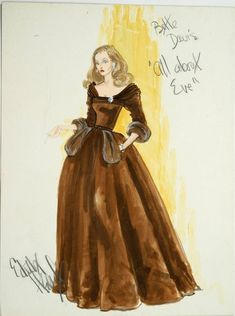 All About Eve. Great movie and one of the great movie dresses.  Love the pockets and neckline