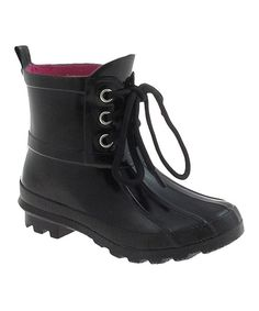 Another great find on #zulily! Black Fisherman Rain Boot - Kids by Capelli New York #zulilyfinds