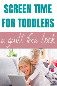 Tips around screen time for toddlers. What do you need to think about for toddlers using ipads and getting online, and tips to reduce screen time. #screentime #toddlersipads