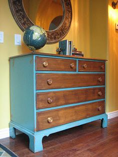 Found this lady on Craigslist... her husband refinishes furniture and she resells it for a great price... amazing job!