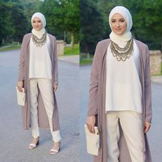 long cardigan pastel outfit, Classy hijab outfits http://www.justtrendygirls.com/classy-hijab-outfits/