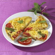 Nudel-Omelett mit Käse Rezept