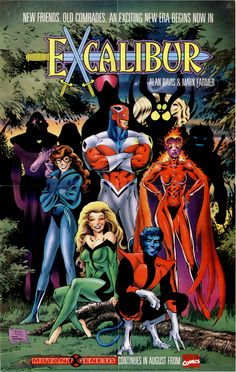 Marvel Comics of the 1980s: 1990 - Unpublished Excalibur Graphic Novel