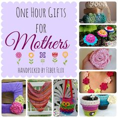 Fiber Flux: One Hour Gifts for Mothers One Skein Crochet, Crochet Deer, Quick Crochet, Crochet Round, Crochet Home, Crochet Gifts, Free Crochet, Mother Gifts, Mothers
