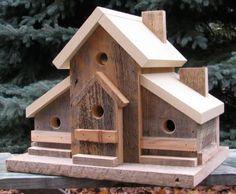 Wooden Bird Houses, Bird Houses Diy, Bird House Plans, Bird House Kits, Woodworking Plans, Woodworking Projects, Homemade Bird Houses, Bird House Feeder, Birdhouse Designs