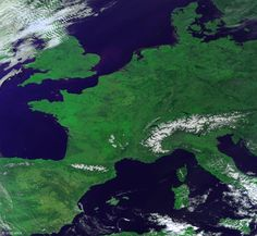 A nearly cloud-free view of Europe, part of a global mosaic of Proba-V images acquired on 9 March.