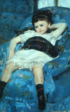 Little Girl in a Blue Armchair, detail, 1878, oil on canvas, National Gallery of Art at Washington D.C.