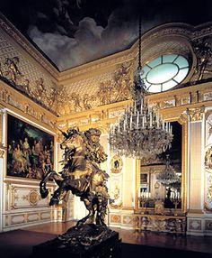 Herrenchiemsee, King Ludwig II's version of Versailles, build in 19th century Bavaria